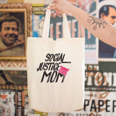 Social Justice Mom Cotton Tote Bag