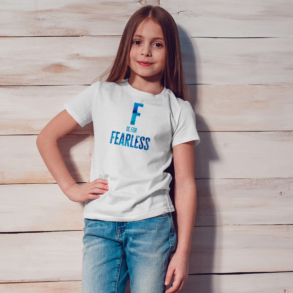 F is for FEARLESS Youth Size T-Shirt - pipercleo.com