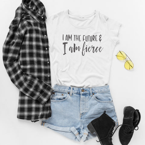 I am the Future and I am Fierce Ladies' Boyfriend T-Shirt - pipercleo.com