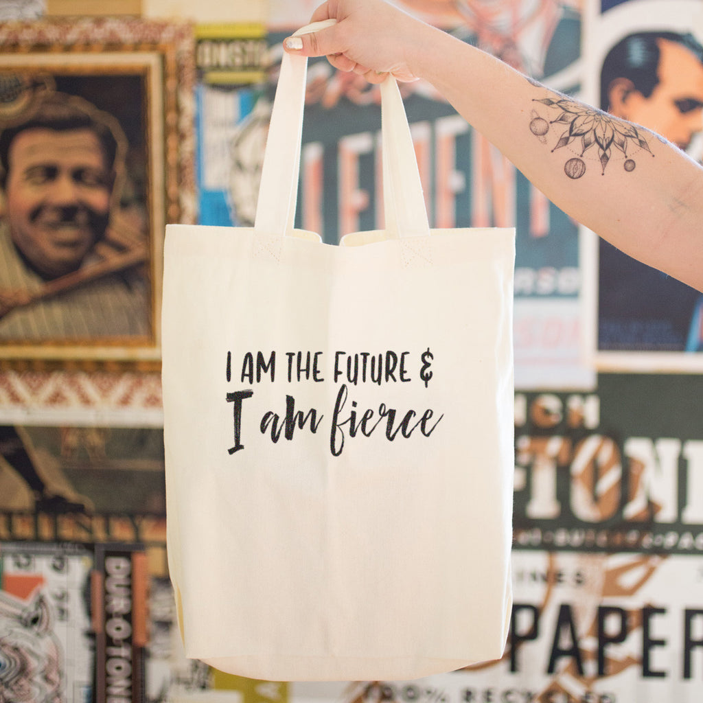 I am the Future and I am Fierce Cotton Tote Bag - pipercleo.com