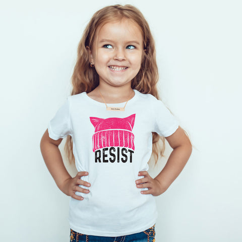 RESIST - Pussy Hat Toddler Softstyle T-Shirt