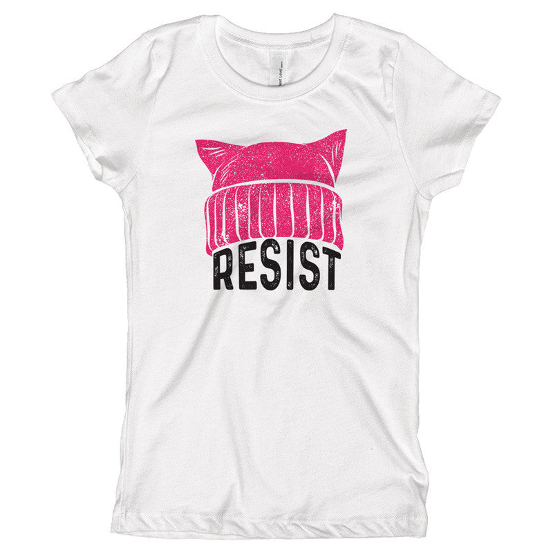 RESIST - Pussy Hat Youth Size T-Shirt - pipercleo.com