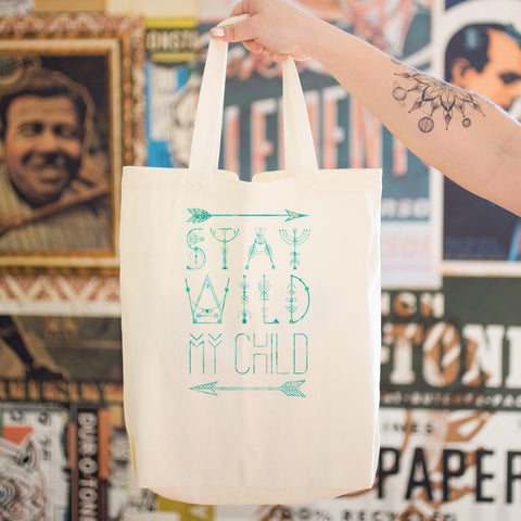 Stay Wild my Child Cotton Tote Bag