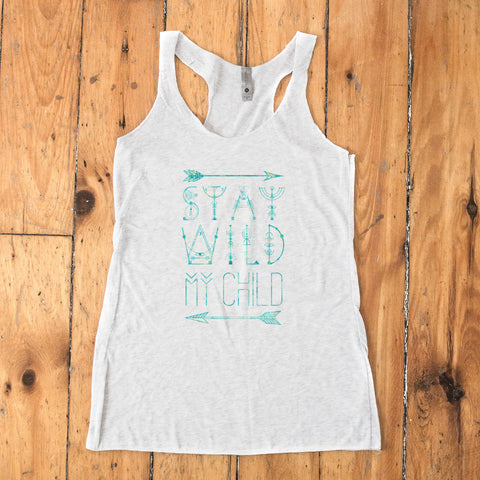 Stay Wild my Child Racerback Tank