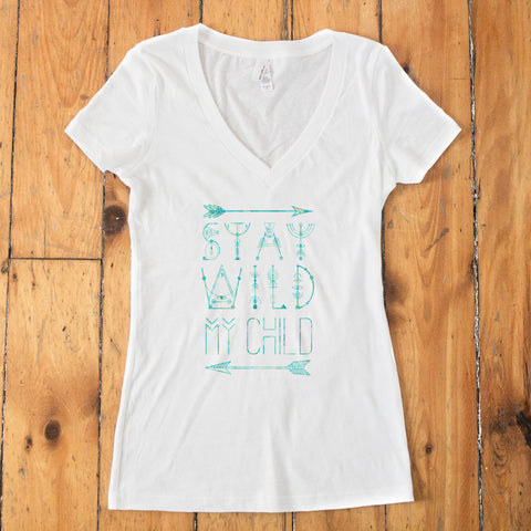 Stay Wild my Child V-Neck T-shirt