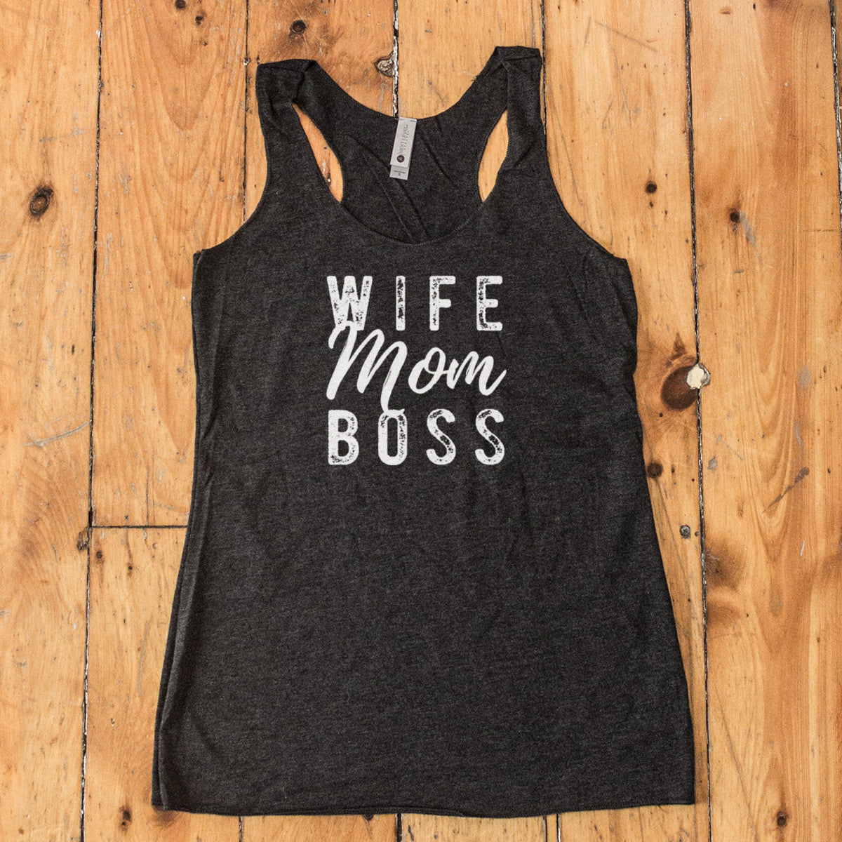 Wife Mom Boss Racerback Tank