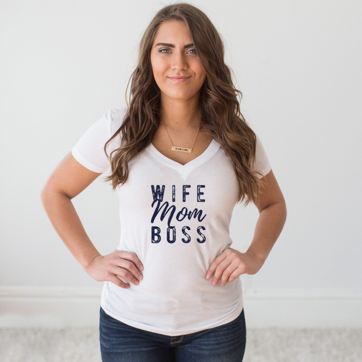 Wife Mom Boss V-Neck T-shirt