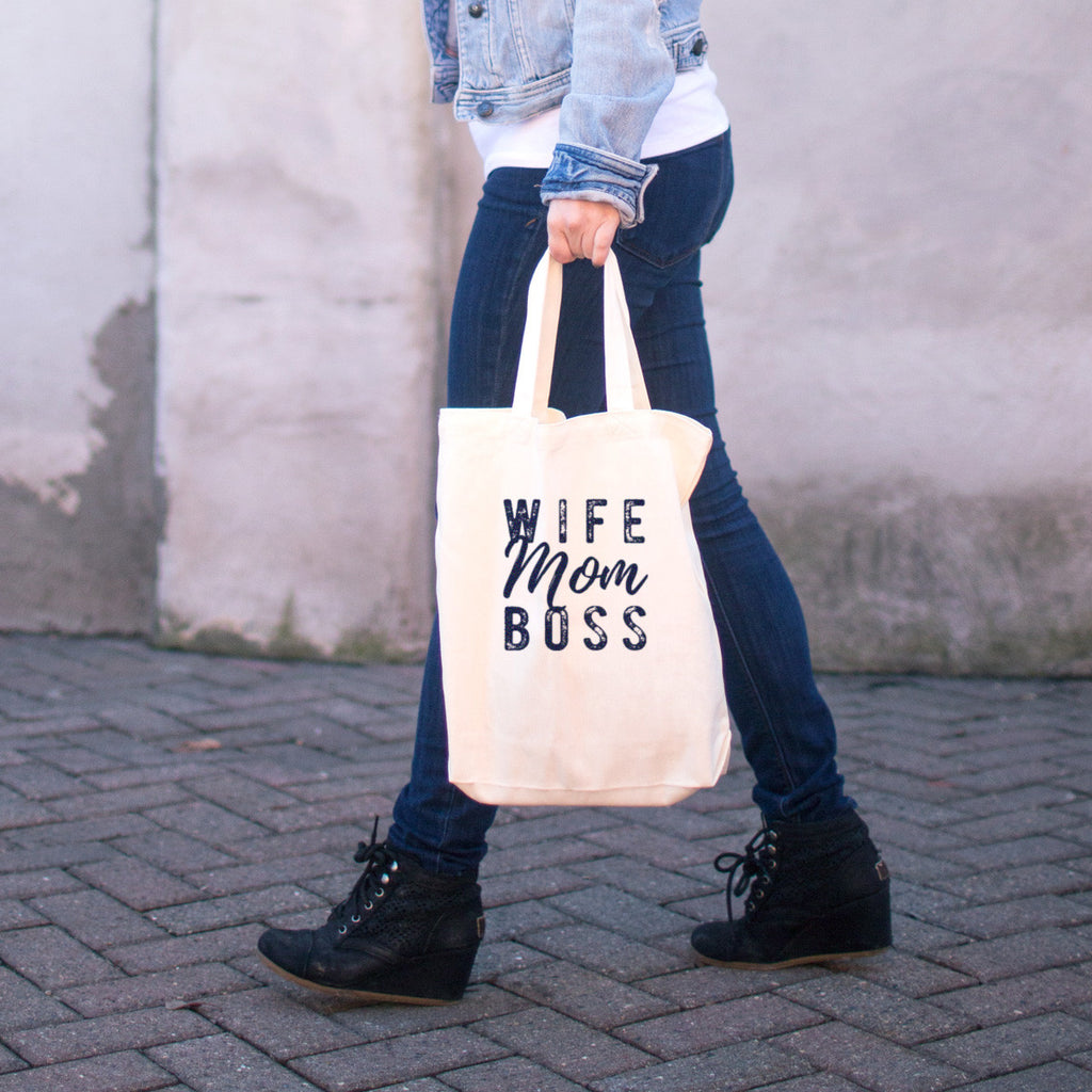 Wife Mom Boss Cotton Tote Bag - pipercleo.com