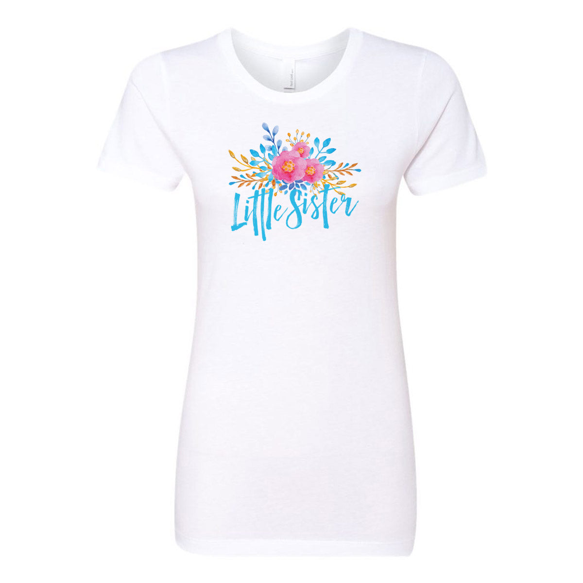 Little Sister - Watercolor Flowers Ladies' Boyfriend T-Shirt - pipercleo.com