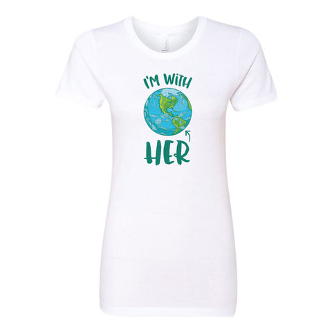 I'm With HER - Mother Earth Support Ladies' Boyfriend T-Shirt