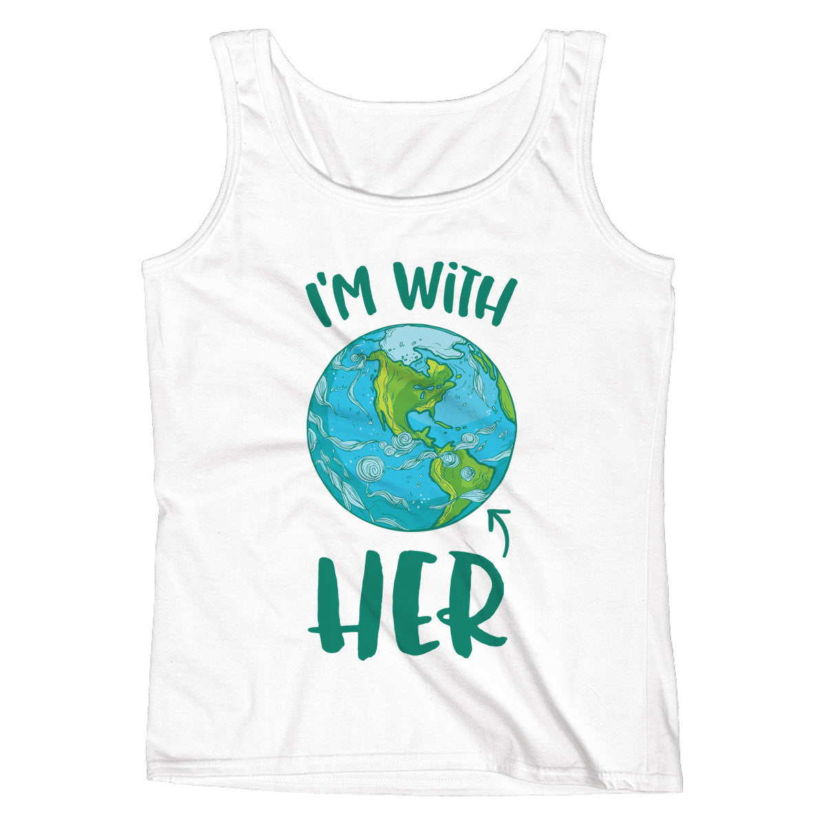 I'm With HER - Mother Earth Support Ladies' Tank - pipercleo.com