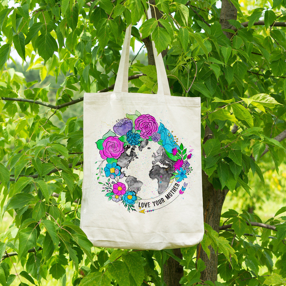 Love Your Mother Cotton Tote Bag - pipercleo.com