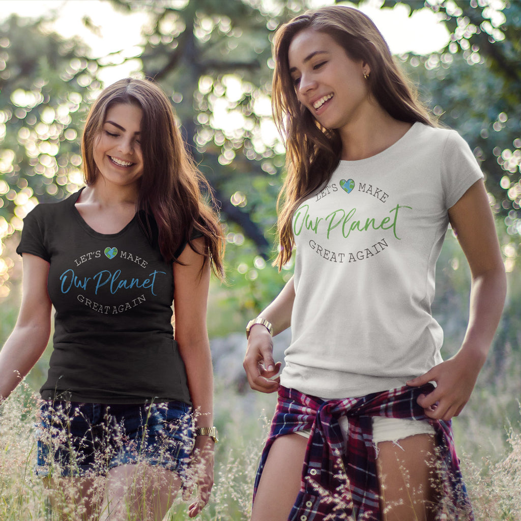 Let's Make OUR PLANET Great Again Ladies' Boyfriend T-Shirt - pipercleo.com