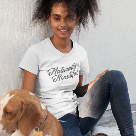 Naturally Beautiful Ladies' Boyfriend T-Shirt - pipercleo.com