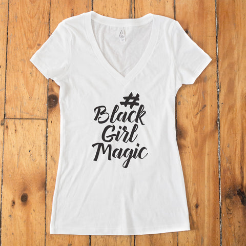 #BlackGirlMagic Perfect V-Neck T-Shirt - pipercleo.com