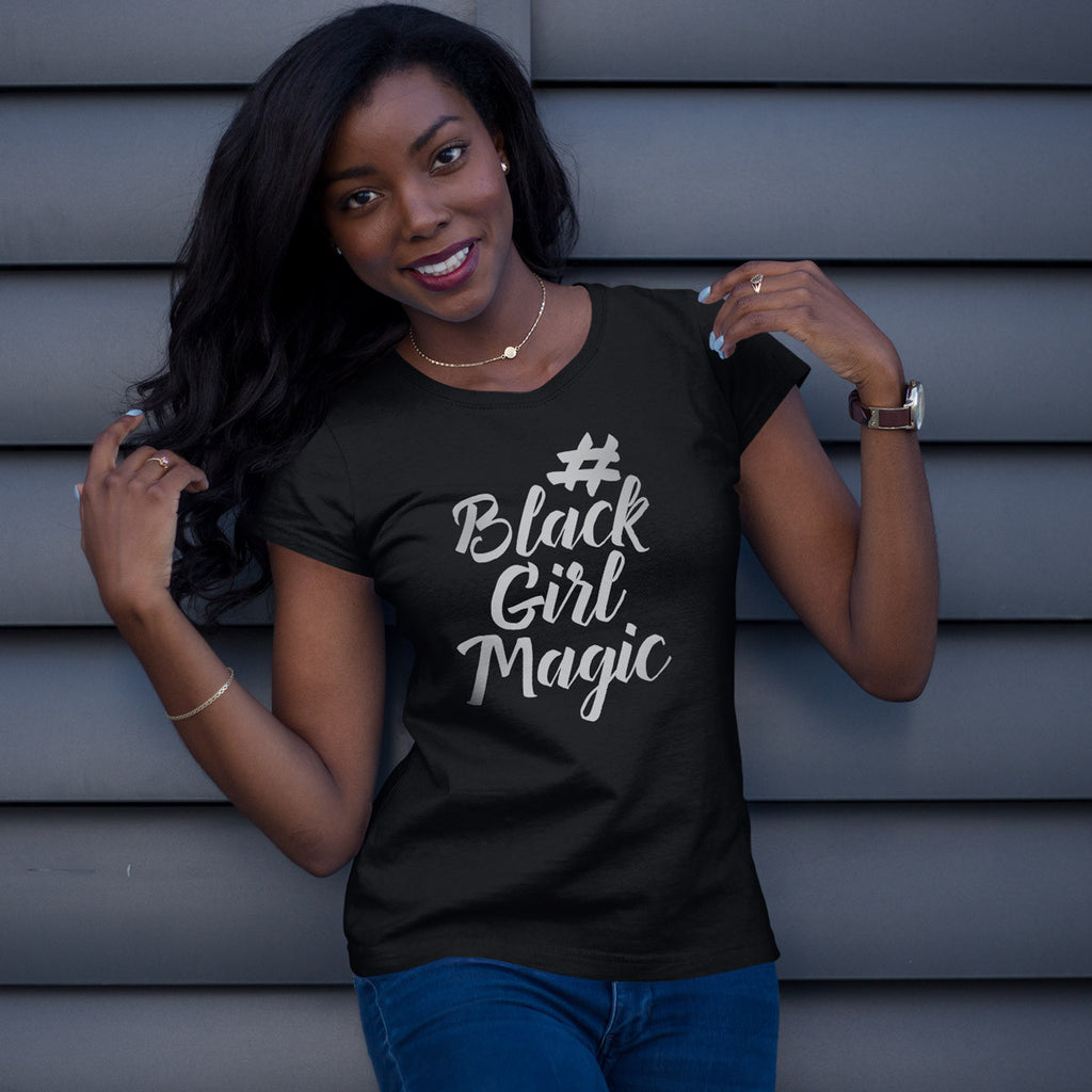 #BlackGirlMagic Ladies' Boyfriend T-Shirt - pipercleo.com