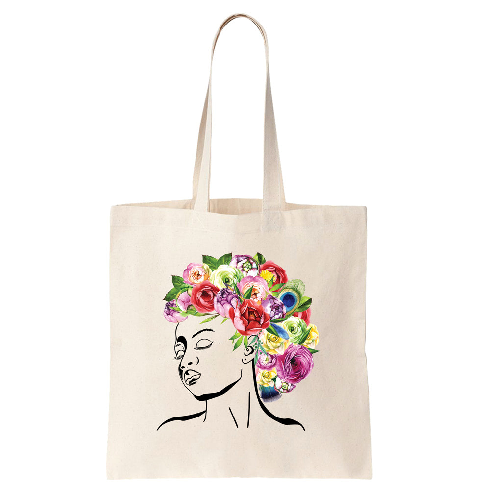Styled by Mother Nature - Watercolor Flowers Cotton Tote Bag