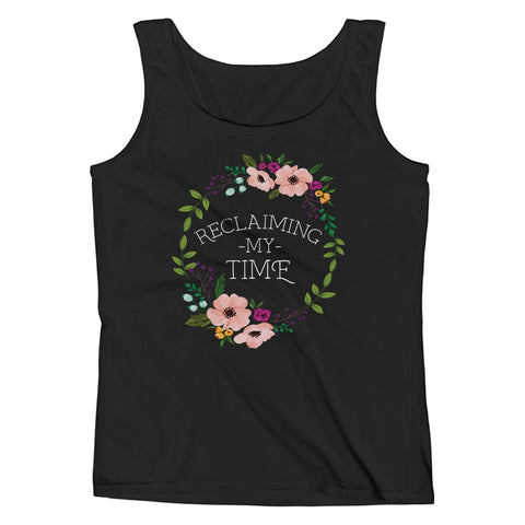Reclaiming my Time - Flower Wreath Ladies' White Tank