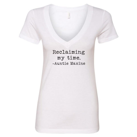 Reclaiming my Time - Auntie Maxine V-Neck T-Shirt