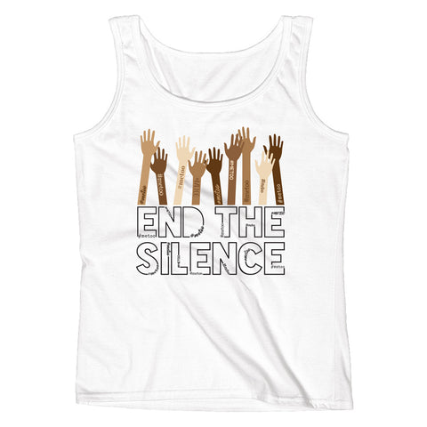 End the Silence - #MeToo Movement Ladies' Tank - pipercleo.com