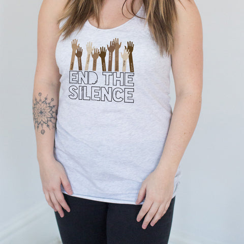 End the Silence - #MeToo Movement Racerback Tank