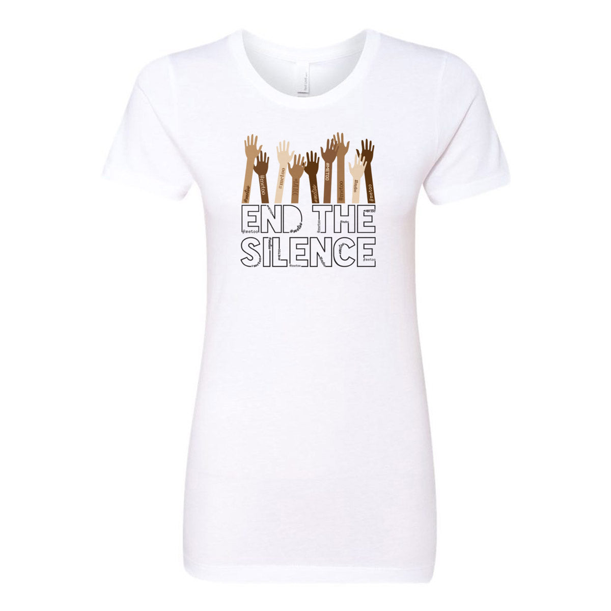 End the Silence - #MeToo Movement Ladies' Boyfriend T-Shirt - pipercleo.com
