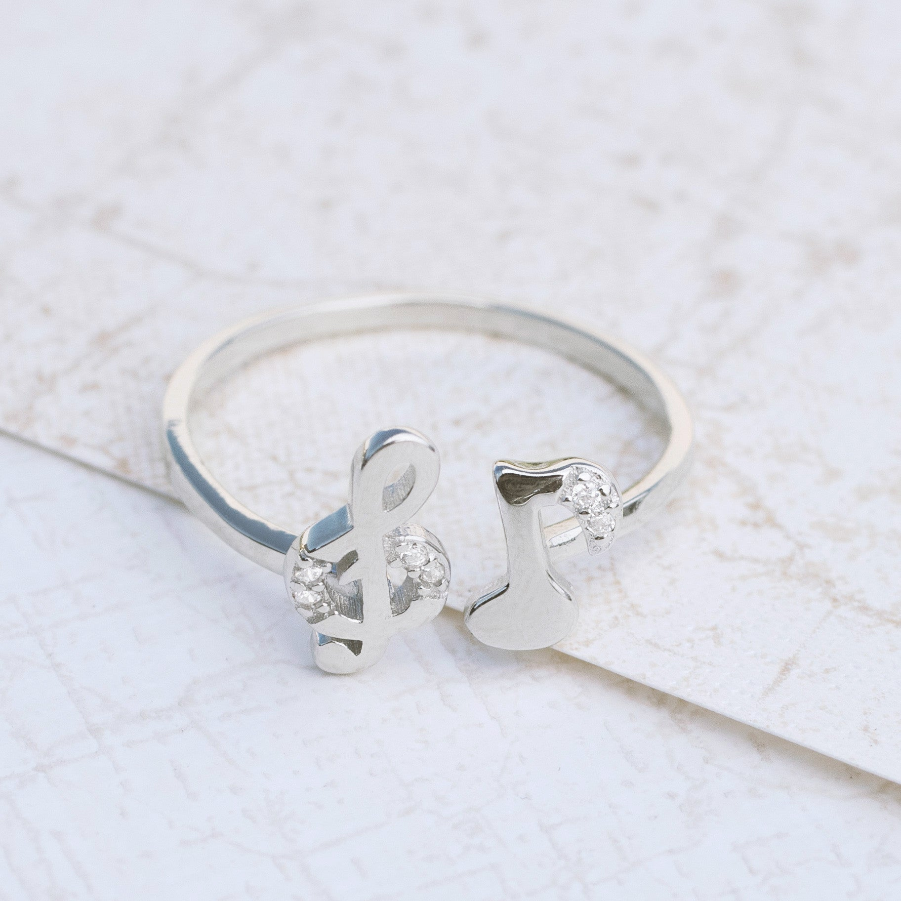 Music Theory Sterling Silver Ring - pipercleo.com
