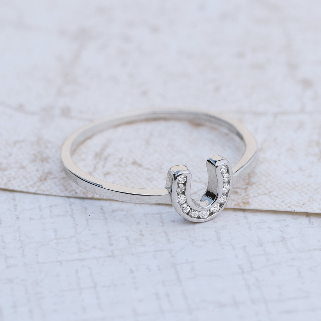 Lucky Sterling Silver Horseshoe Ring - pipercleo.com