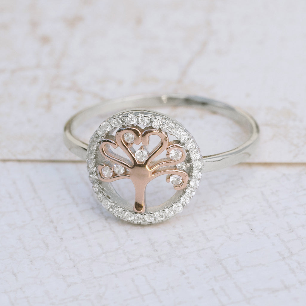Tree of Life Sterling Silver Ring - pipercleo.com