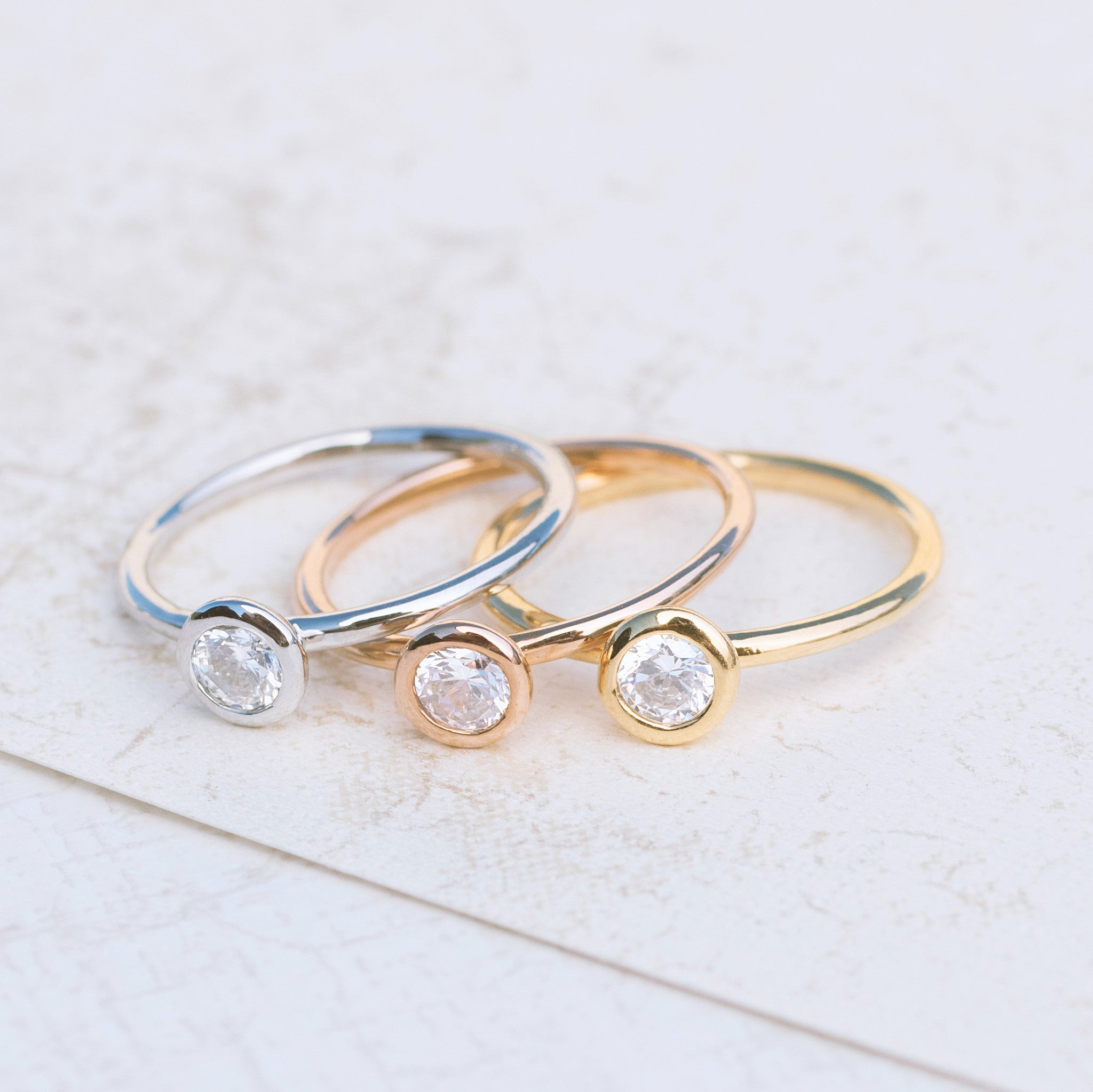 Tri Color Stackable Rings