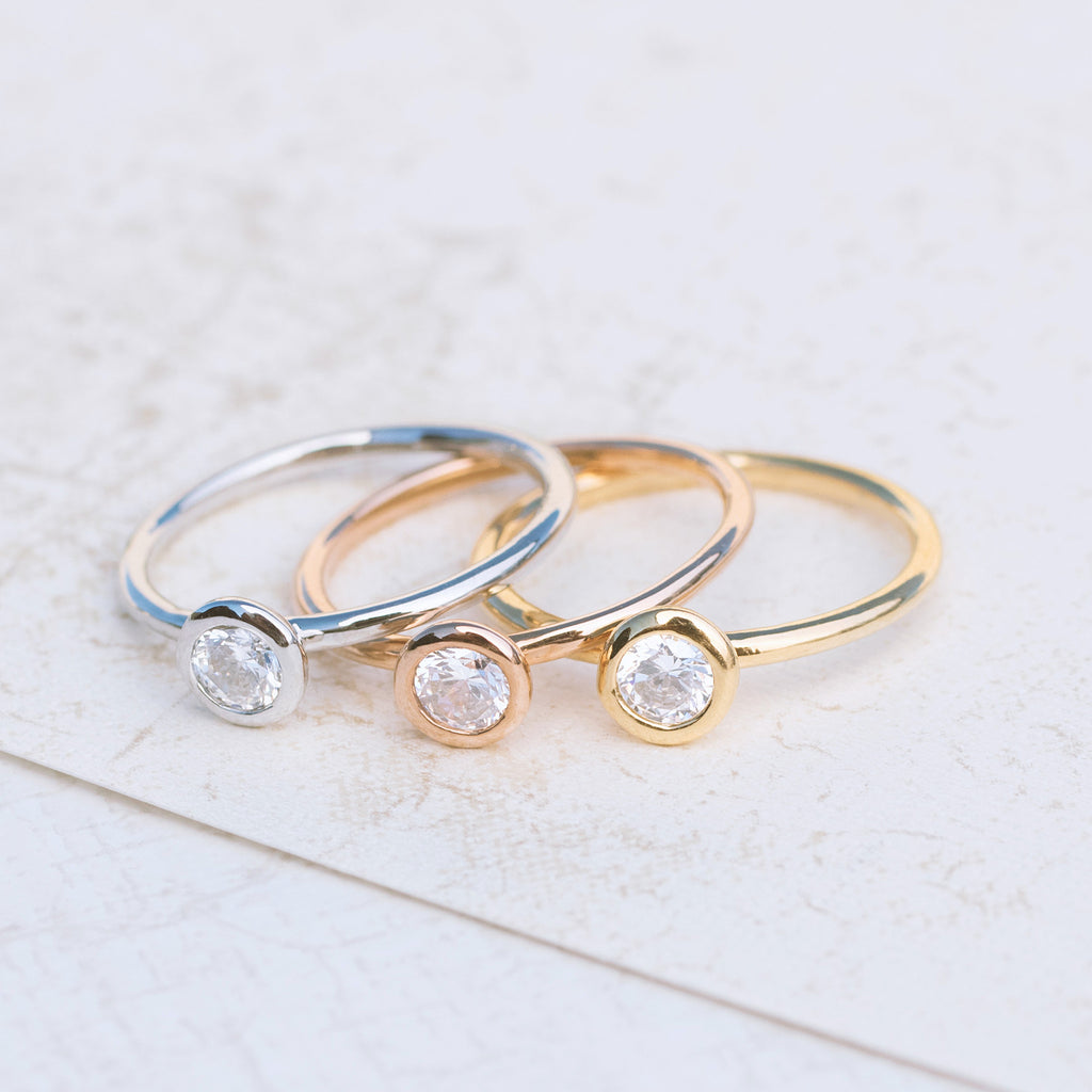 Tri Color Stackable Rings - pipercleo.com