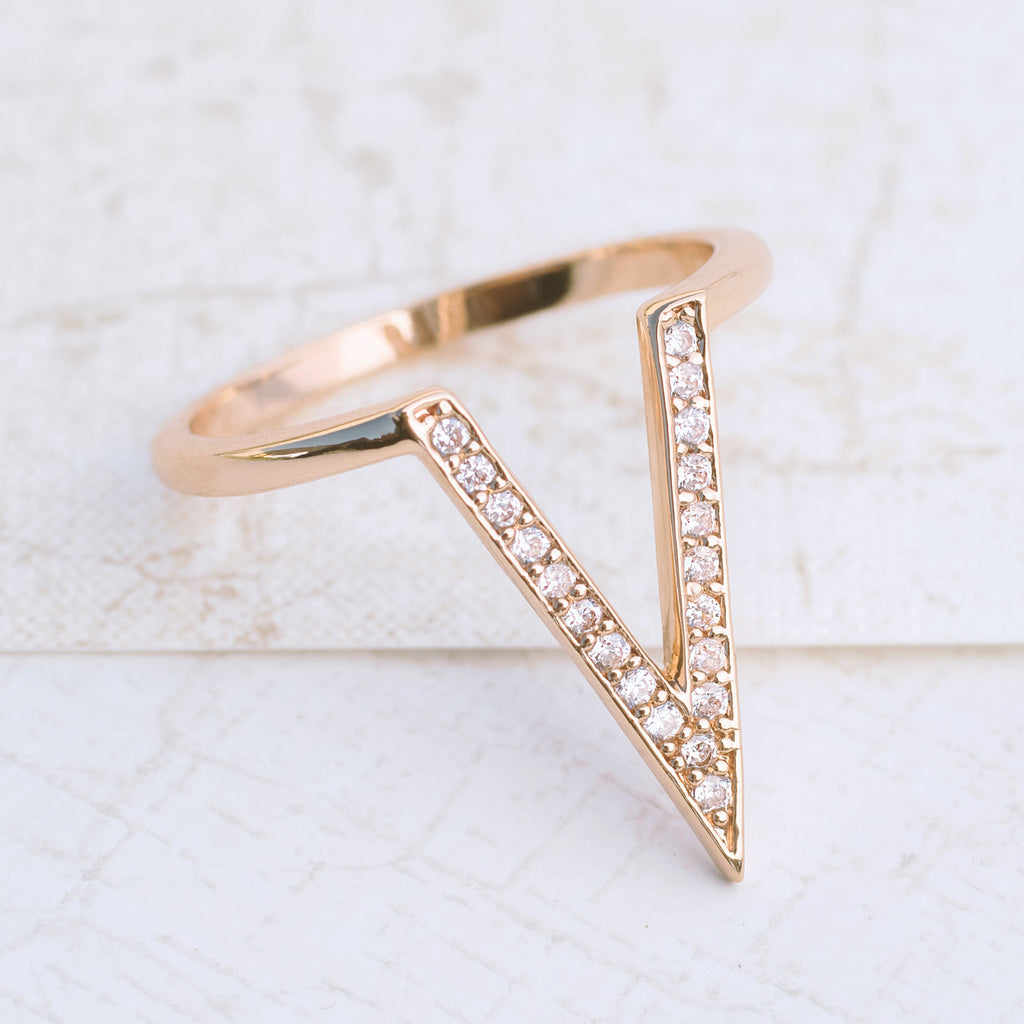 Victory in Rose Gold Ring - pipercleo.com