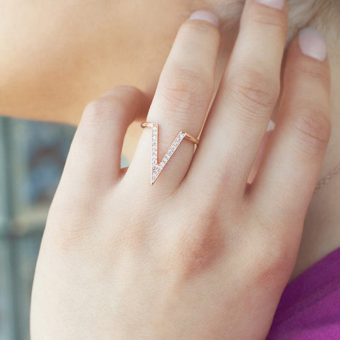 Victory in Rose Gold Ring