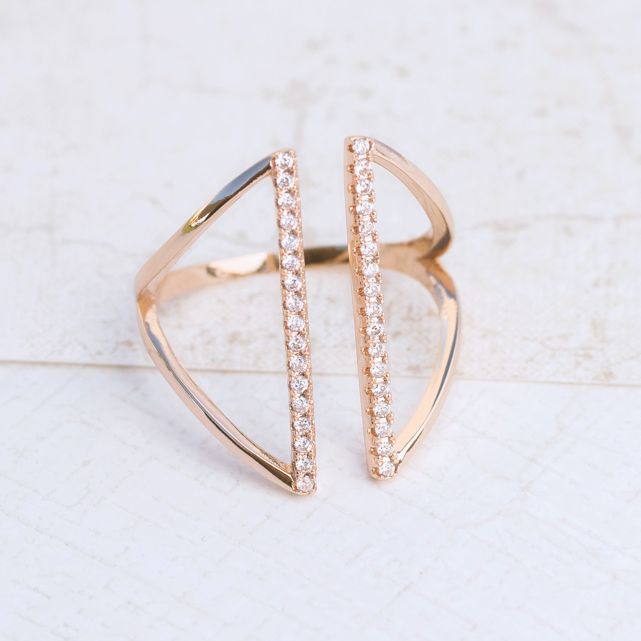 Shield in Rose Gold Ring - pipercleo.com