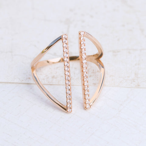 Shield in Rose Gold Ring