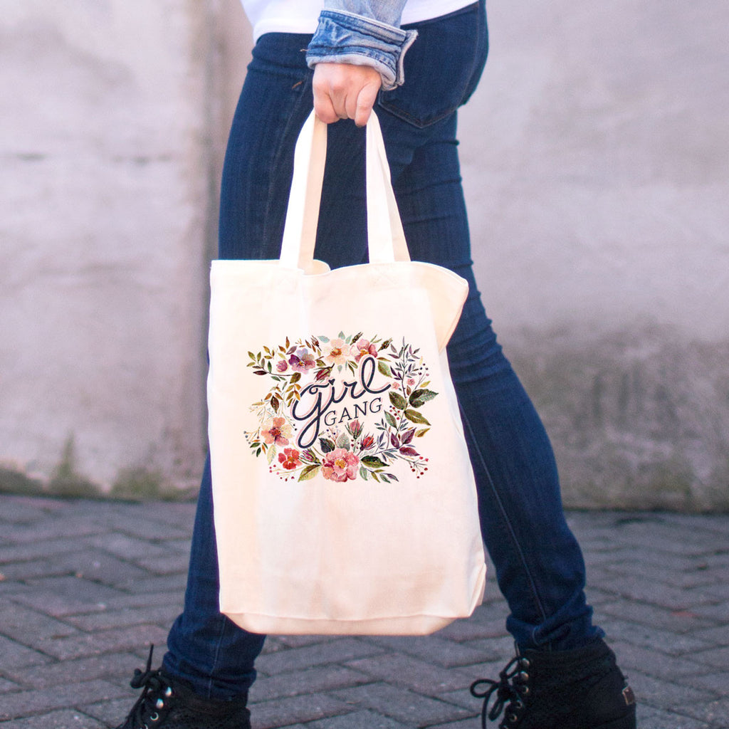 Girl Gang Cotton Tote Bag - pipercleo.com