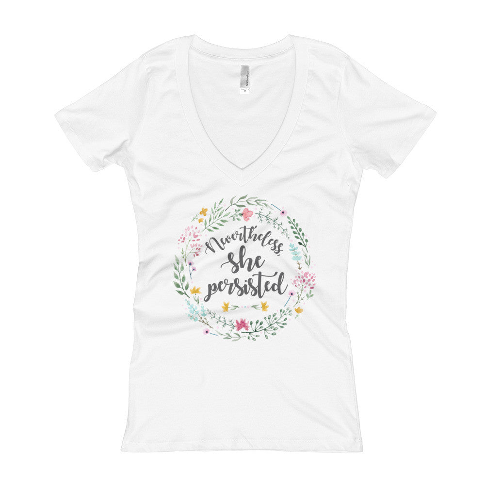 Nevertheless She Persisted Women's V-Neck T-shirt