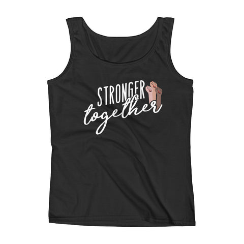 Stronger Together Ladies' Black Tank - pipercleo.com