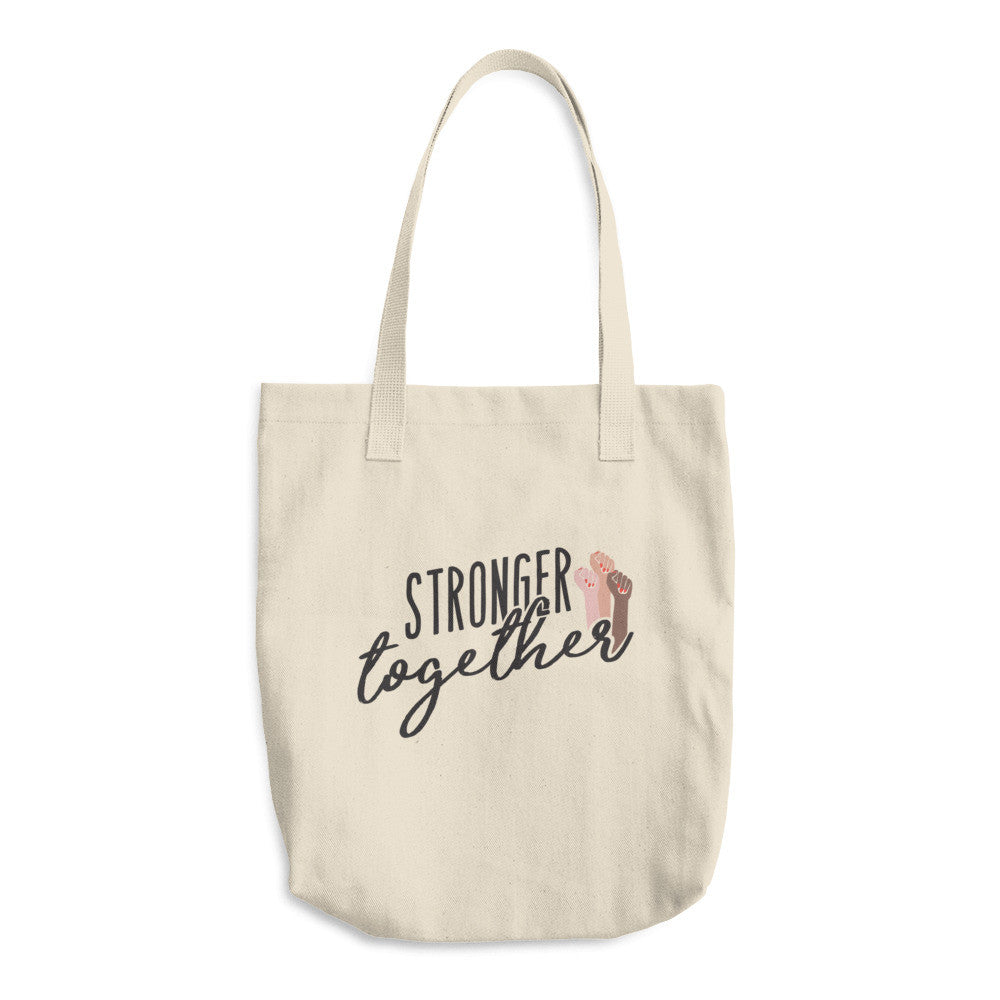 Stronger Together Cotton Tote Bag