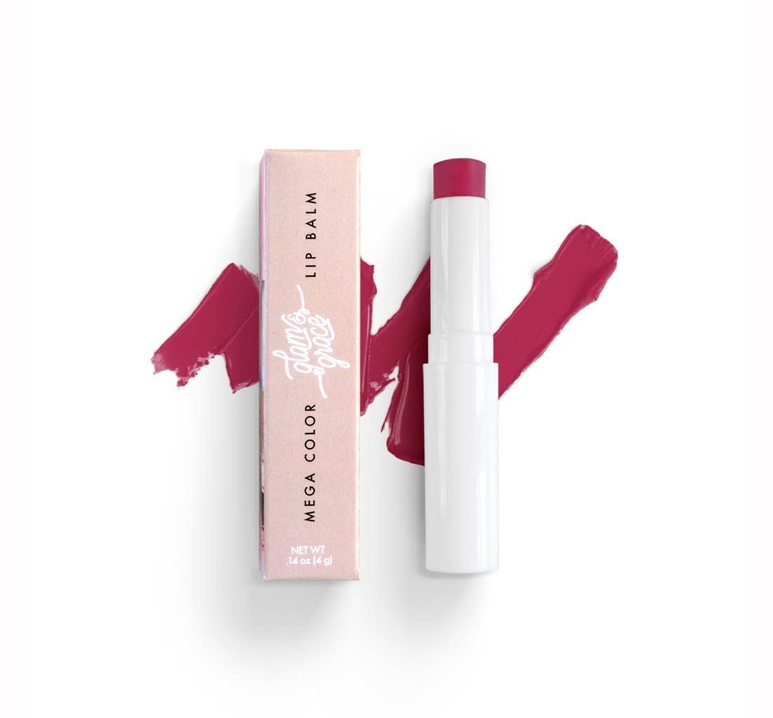 Glam & Grace Mega Color Lip Balm in Fine Wine