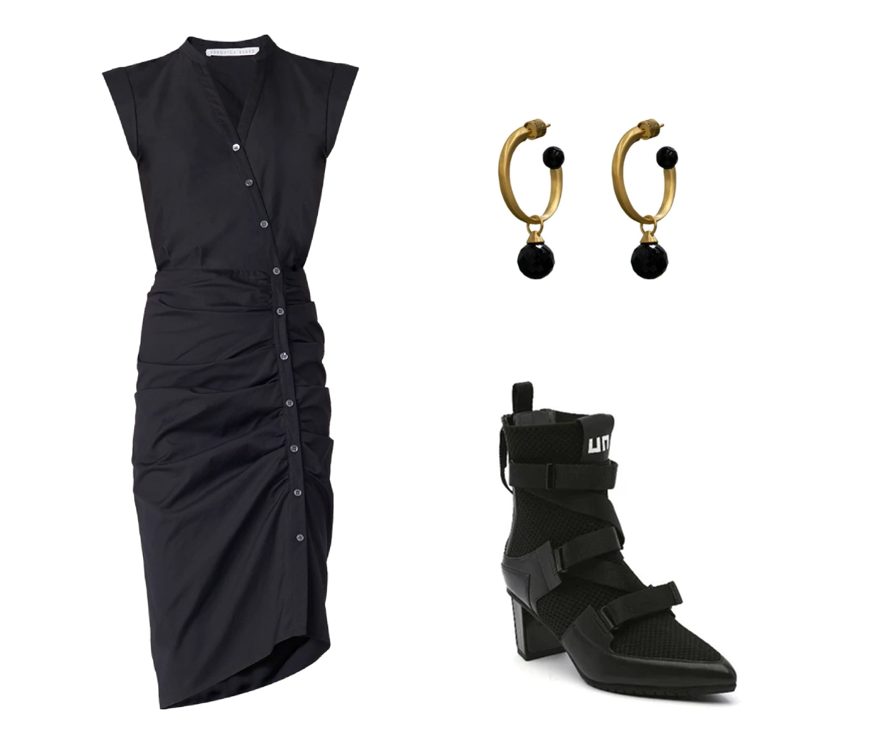 ruched_shirt_dress  onyx_hoop  sport_mid