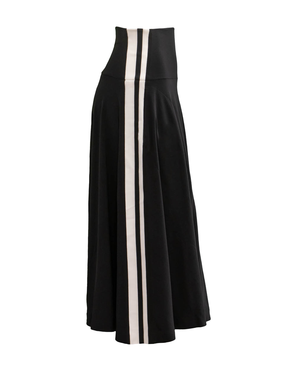 Side Stripe Flare Skirt