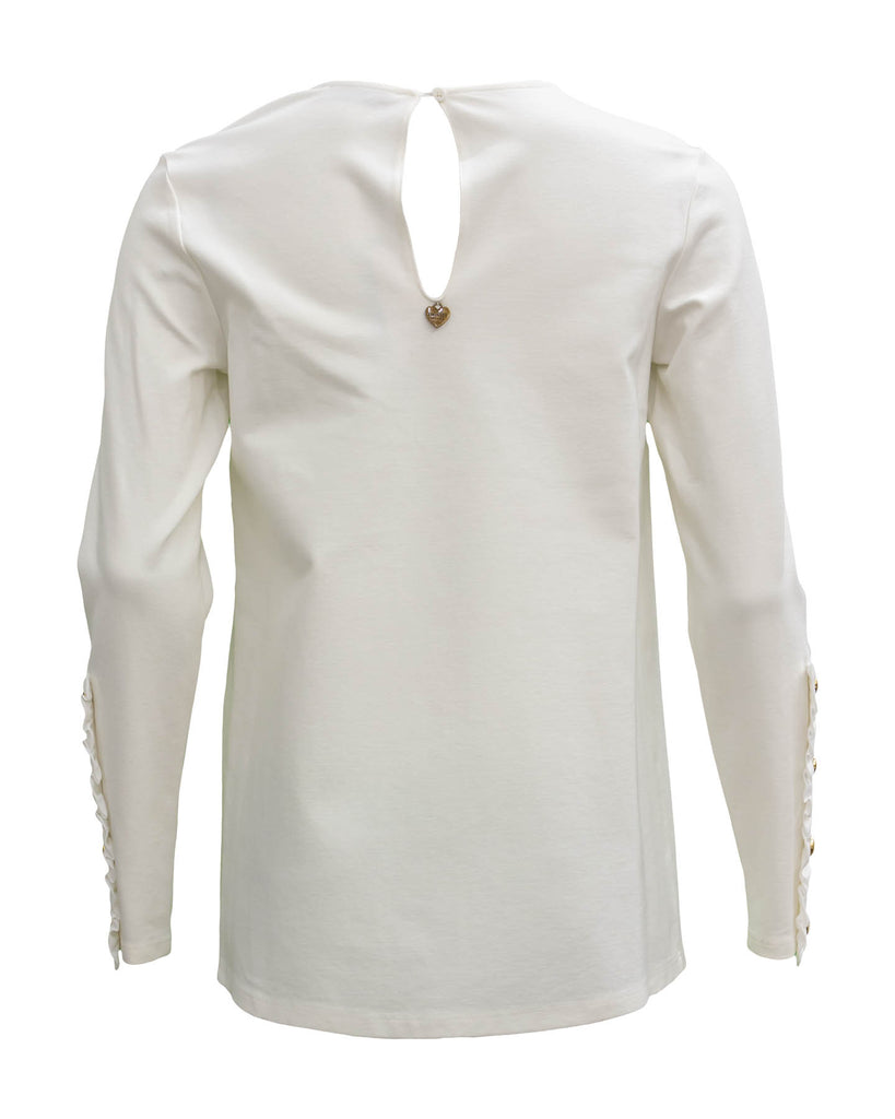 Blouse with Frills and Pearls
