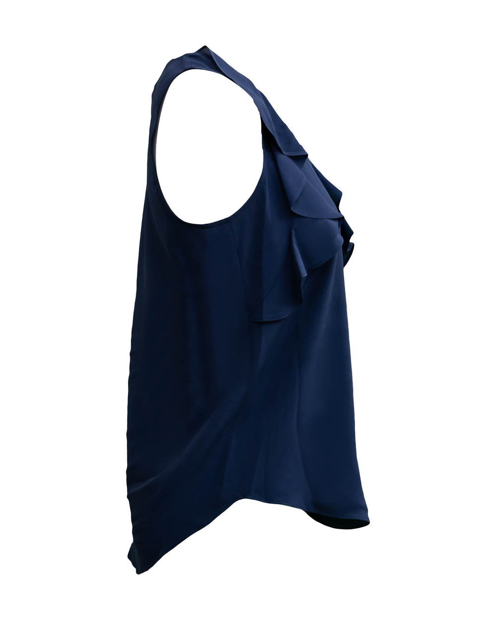 Crepe Tank with Ruffles