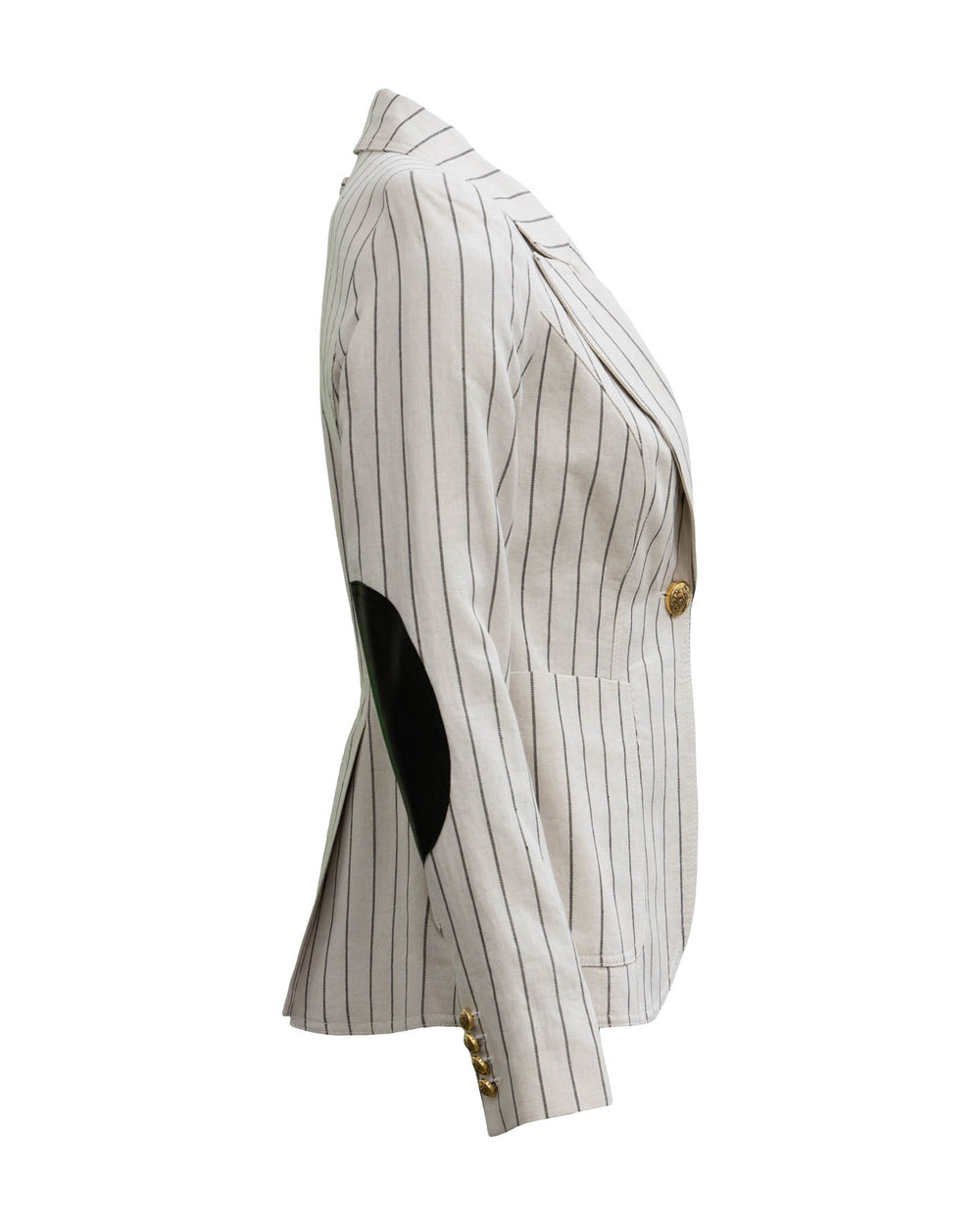 Patch Pocket Duchess Blazer-Stone Stripe