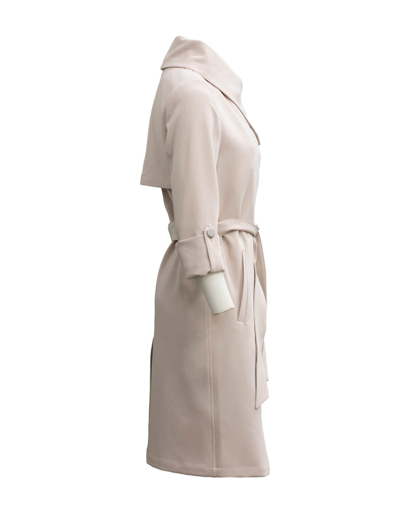 Ornella Cascade Draped Coat