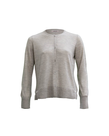 Fine-Knit Wool Blend Sweater