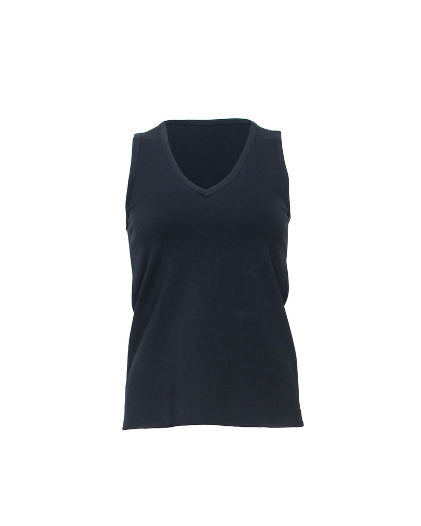 V-Neck Sleeveless Top- Front View