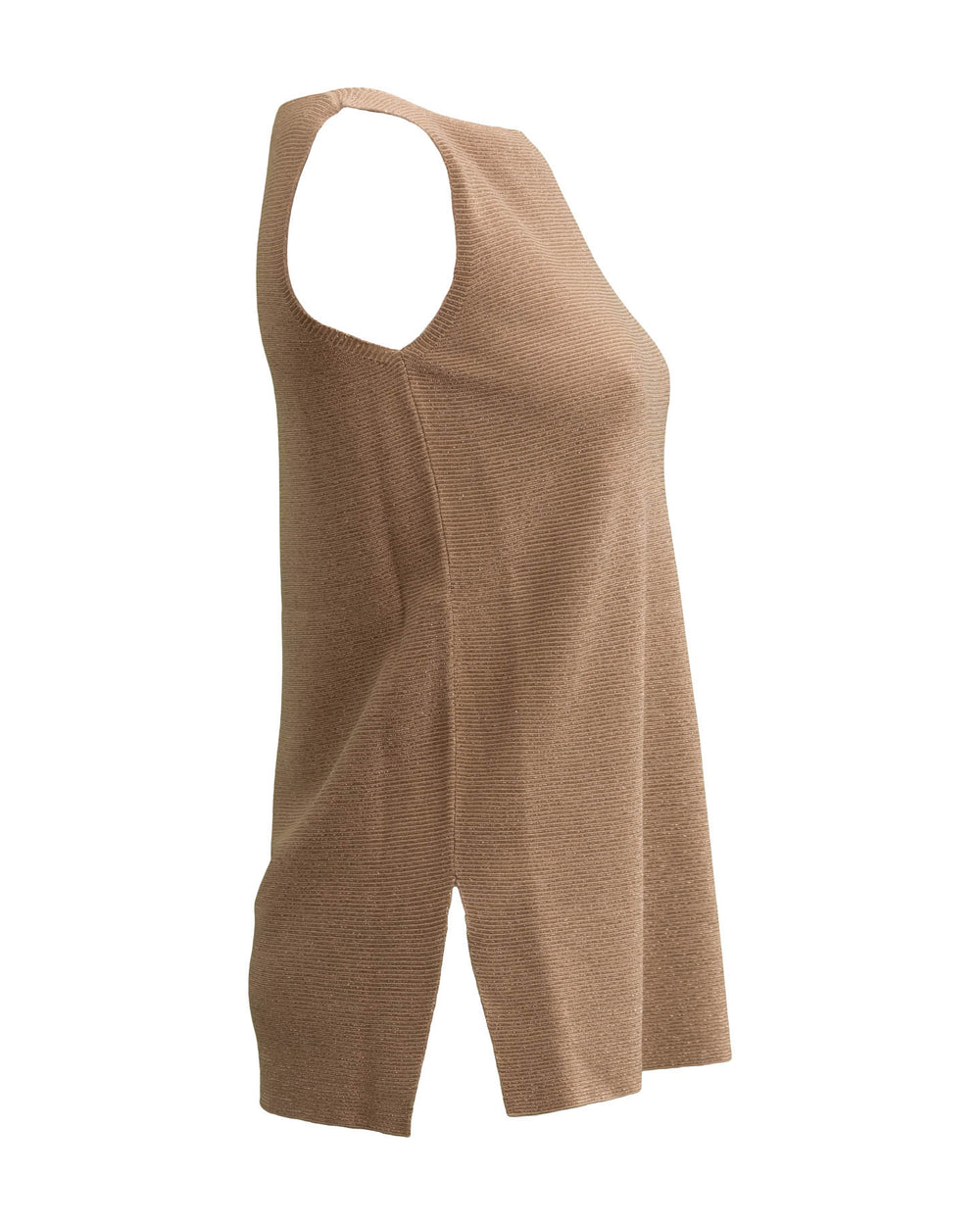 Lurex Tank with Side Slit