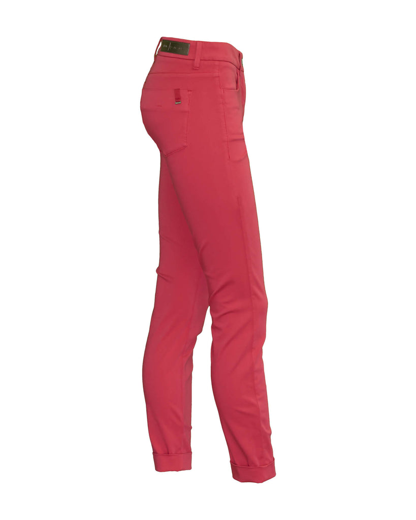 Brushed Cotton Skinny Pants Raspberry